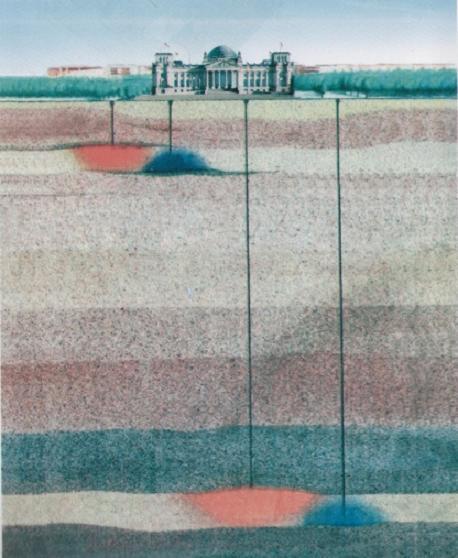 A Bundestag f�t�se �s h�t�se talajszond�k seg�ts�g�vel